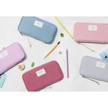 Donbook Wish blossom mind zip around pencil pouch