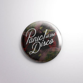 "Panic! at the Disco ""Too Weird to Live, Too Rare to Die"" 2 1/4"" Button/Badge"