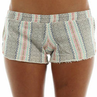 Billabong Aida May Fleece Short in White Cap Heather