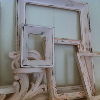 Empty Gallery Frames Pale Pink Shabby Chic Vintage Frame Set Rock-A-Bye Babyff Open Frames Gallery Wall Frames