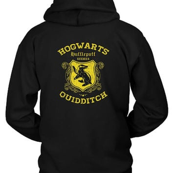 Hufflepuff Quidditch Hoodie Two Sided