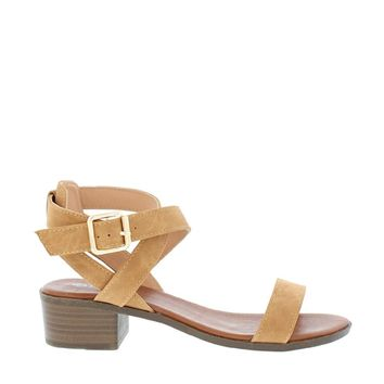 Low Chunky Heel Sandal (TAN)