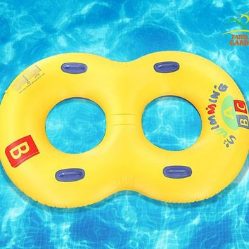 Inflatable Two People Lovers Couples Swimming Ring Circle Double Mommy And Child Swim Rings Pool Float Chair Seat Like Number 8
