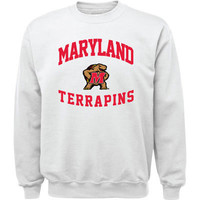 Maryland Terrapins White Aptitude Crewneck Sweatshirt