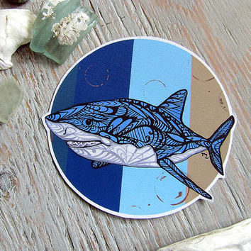 Great White Shark Decal- Waterproof Sticker