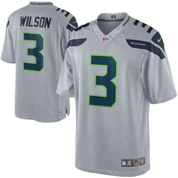 Men's Seattle Seahawks Russell Wilson Nike Gray Alternate Limited Jersey