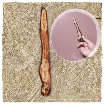 Woven Art Needle Prim Cedar Wood (  5 6/8 Inches Long) Tapestry Type Weaving Needle, Norse Knitting Needle, Circle Weaving