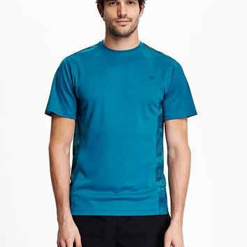 Old Navy Mens Mesh Panel Tee