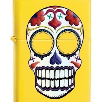 Zippo 24894 Day of the Dead Skull Lemon Lighter