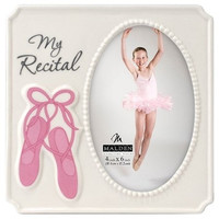 Malden Photo Frame My Recital Dance 4x6 White