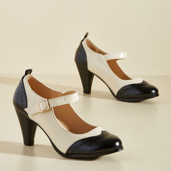 Sweet Style O' Mine Mary Jane Heel in Noir | Mod Retro Vintage Heels | ModCloth.com