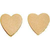 Jennifer Meyer Gold Small Heart Stud Earrings at Barneys New York at Barneys.com