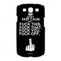 Don't Keep Calm Samsung Galaxy S3 I9300/I9308/I939 Case Saying Keep Calm Top Galaxy S3 black case cover at abcabcbig store