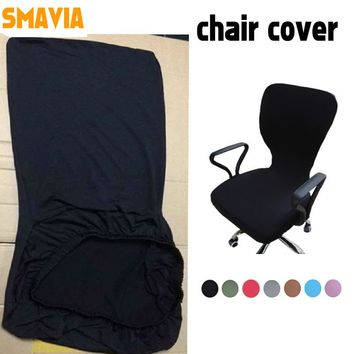 SMAVIA Modern Spandex Computer Chair Cover 100% Polyester Elastic Fabric Office Chair Cover 12 Colors Easy Washable Removeable