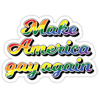 'Make America gay again' Sticker by estini