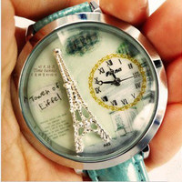 Pure and fresh and lovely  Eiffel Tower Watch from Noveltylike