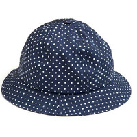 NORSE PROJECTS!!! Superb 'Norse Projects' navy cotton, domed bucket hat with allover dot print / Made in USA / With original tag
