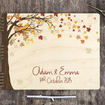 Wedding Guest Book Tree, Wedding Guest Book Wood, Rustic Wedding Guest Book, Maple Tree Wedding Guest Book, Autumm Wedding, Maple Leaves