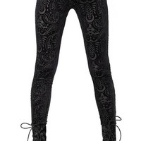 Saiph Burnout [Black Velvet] | LEGGINGS