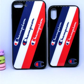 Champion print phone shell phone case for Iphone 7p/7/8/8p/x