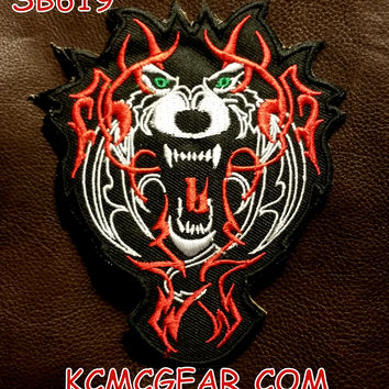 TERRIBLE WOLF Small Badge Patch for Vest jacket SB619