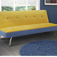 Dorel Home Junior Microfiber and Denim Futon