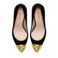 COURT SHOE WITH STUDDED CAP TOE - Shoes - Woman | ZARA United States