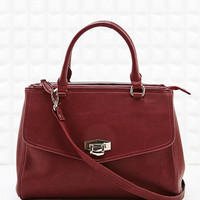 Deena & Ozzy Triple Zip Shoulder Bag in Burgundy - Urban Outfitters