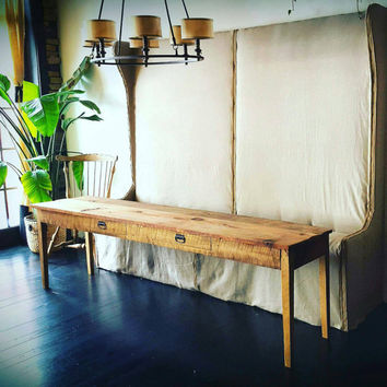 The Katie Reclaimed wood console table