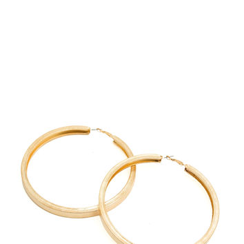 Oversized 'N Textured Hoop Earrings GoJane.com