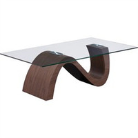 St Laurent Coffee Table Walnut - Zuo Modern 404060 (Shipping Included)