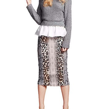 Tracy Reese Knit Peplum Sweater