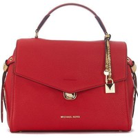 Michael Kors Women's Michael Kors Bristol Red Leather Handbag Red