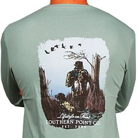 SPC Signature Long Sleeve Hunter Tee in Ice Blue by Southern Point Co.