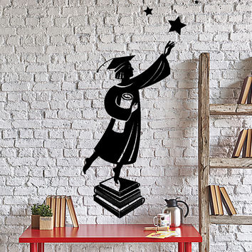 Wall Vinyl Decal Stundent University College Graduation Education Decor Unique Gift z4350