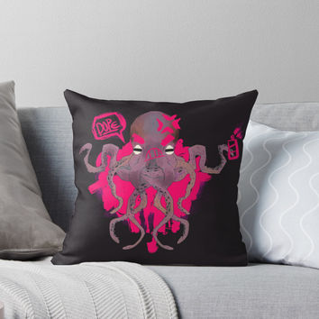 'OctoPunk' Throw Pillow by exeivier