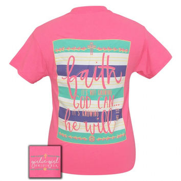 Girlie Girl Originals Faith He Will Faith Pink T-Shirt