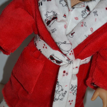 "American Girl Doll Clothes, 18"" Doll Clothes- Puppy Pajamas and Robe"