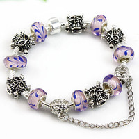 Halloween Skull Charm Bracelet 4 Colors