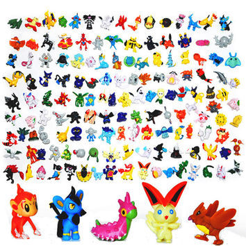 Japanese Pokemon figures set 144pcs 2016 New poke mon pikachu charizard figurine figuras doll lot for kids party supply decor