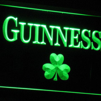 Guinness Beer Shamrock Bar LED Neon Sign with On/Off Switch 7 Colors to choose