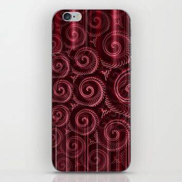 Maroon Decoration #2 iPhone & iPod Skin by Moonshine Paradise