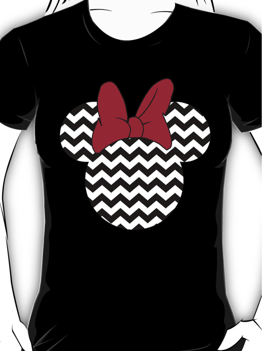 Minnie Mouse Chevron Women S T Shirt From Redbubble