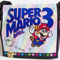 NINTENDO SUPER MARIO 3 Licensed Messenger Bag Retro NEW