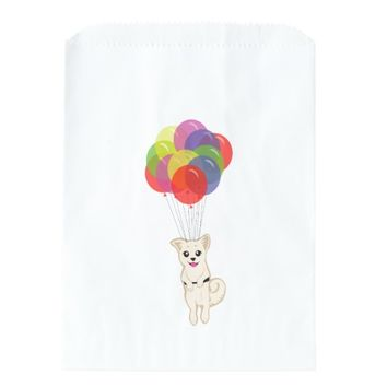 Puppy with Balloons Favor Bag