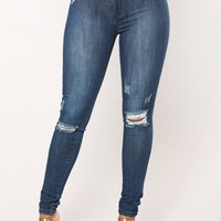 Never Changing Skinny Jeans - Dark Denim