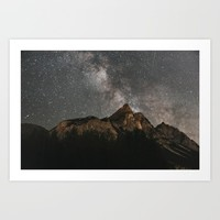 Milky Way Over Mountains - Landscape Photography Art Print by regnumsaturni