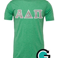 CUSTOM Bella Unisex Stitched Greek (Sorority or Fraternity) Letter T Shirt -- Order for your entire organization!