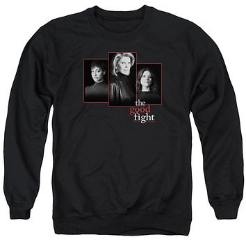 The Good Fight Sweatshirt Cast Headshots Black Pullover
