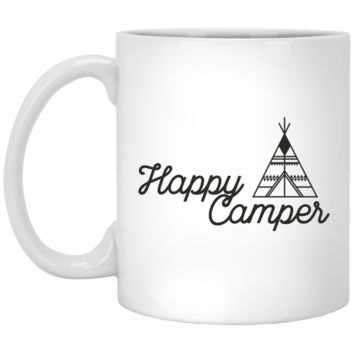 Happy Camper Coffee Mug for the Outdoor Coffee Drinker